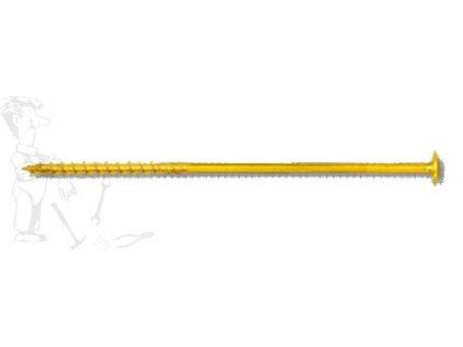 Vrut stavební Talířová hl. 8x180 ZnŽl torx 40