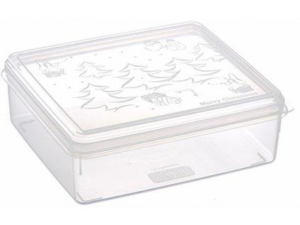 Box vánoční čtverec 23x20x7,5 cm 2,5 l