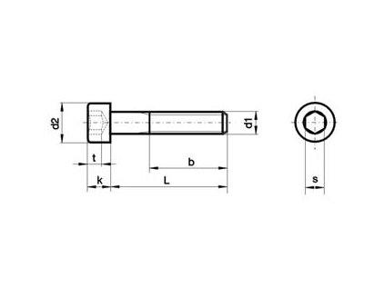 Šroub Imbus M12x25 DIN 912 8.8 ZN