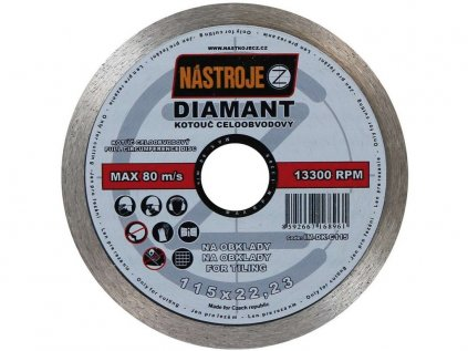 Kotouč diamantový 115x1,6x22mm Nastroje CZ