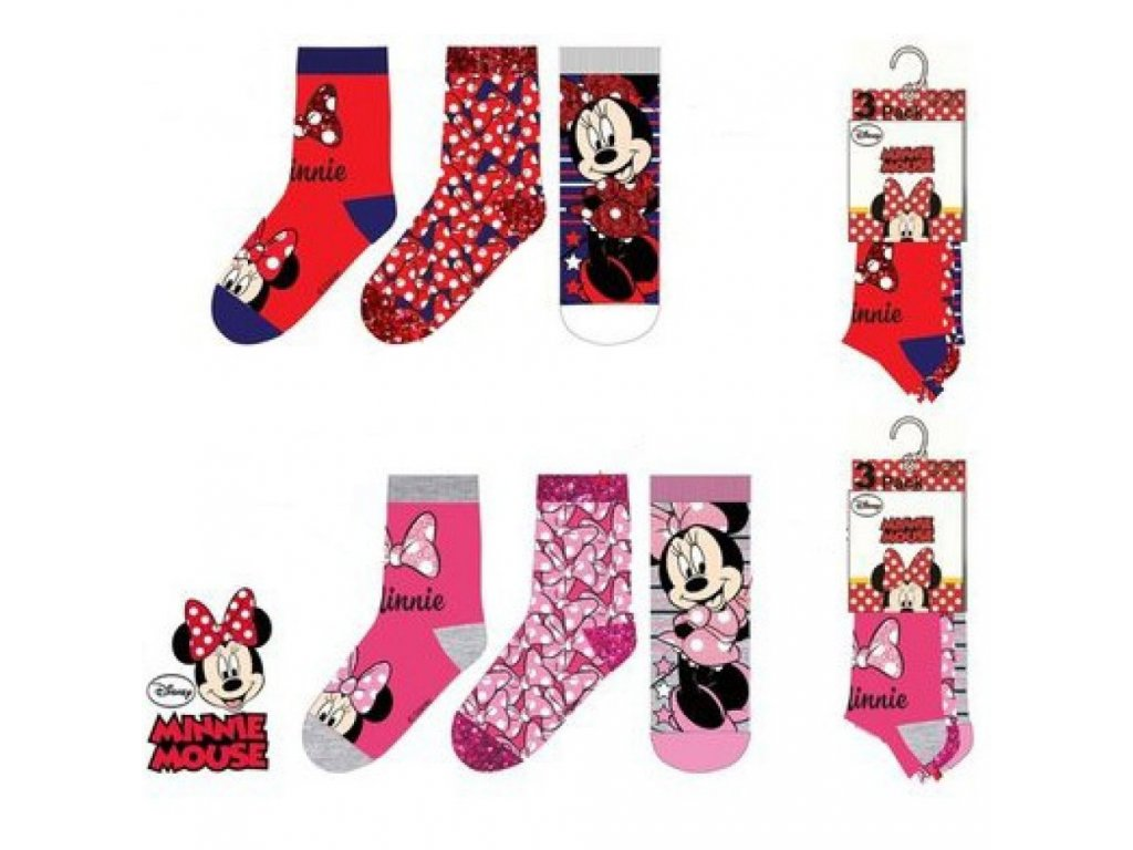 Sun City Minnie Mouse ponožky 3ks
