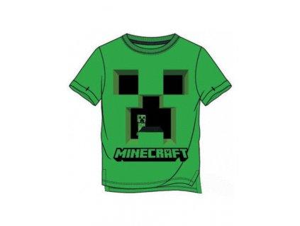 chlapecke tricko s kratkym rukavem minecraft creeper zelene