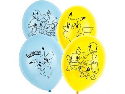 0009065 latexove balonky pokemon 6 ks