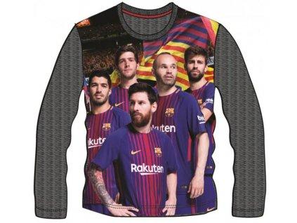 COTTONLAND KFT FC Barcelona tričko dl.rukáv