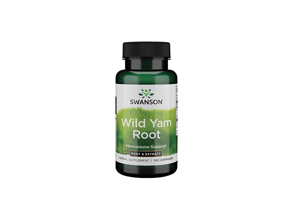 Swanson Wild Yam Root - Smlditec Chlupatý, 100 kapslí