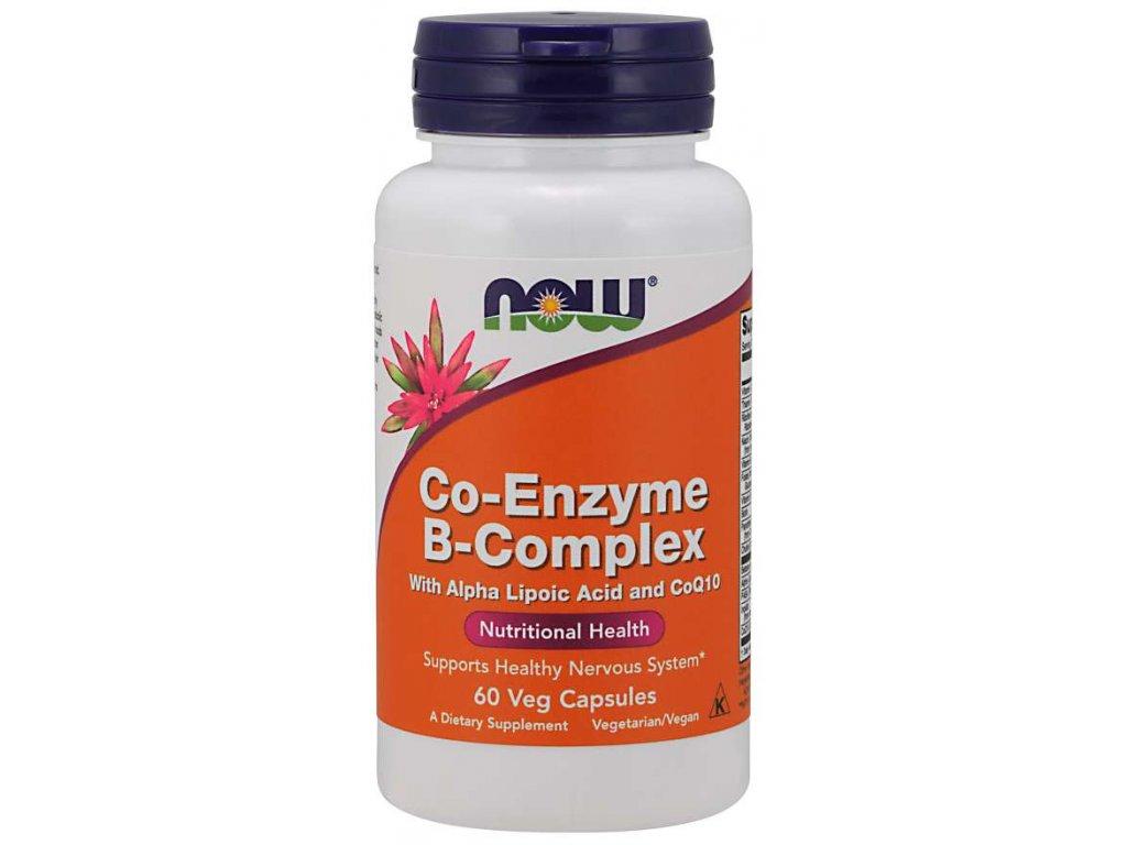 NOW Co-Enzyme Vitamin B-komplex (aktivní koenzymová forma), 60 rostlinných kapslí