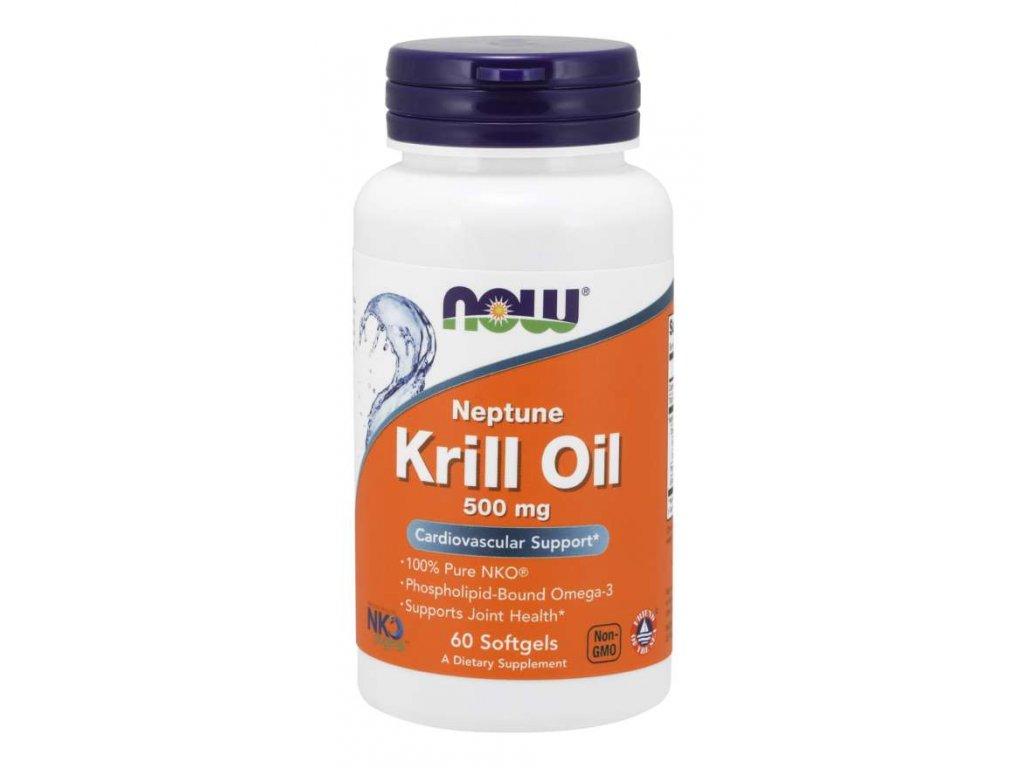 NOW Krill Oil Neptune (olej z krilu), 500 mg, 60 softgel kapslí
