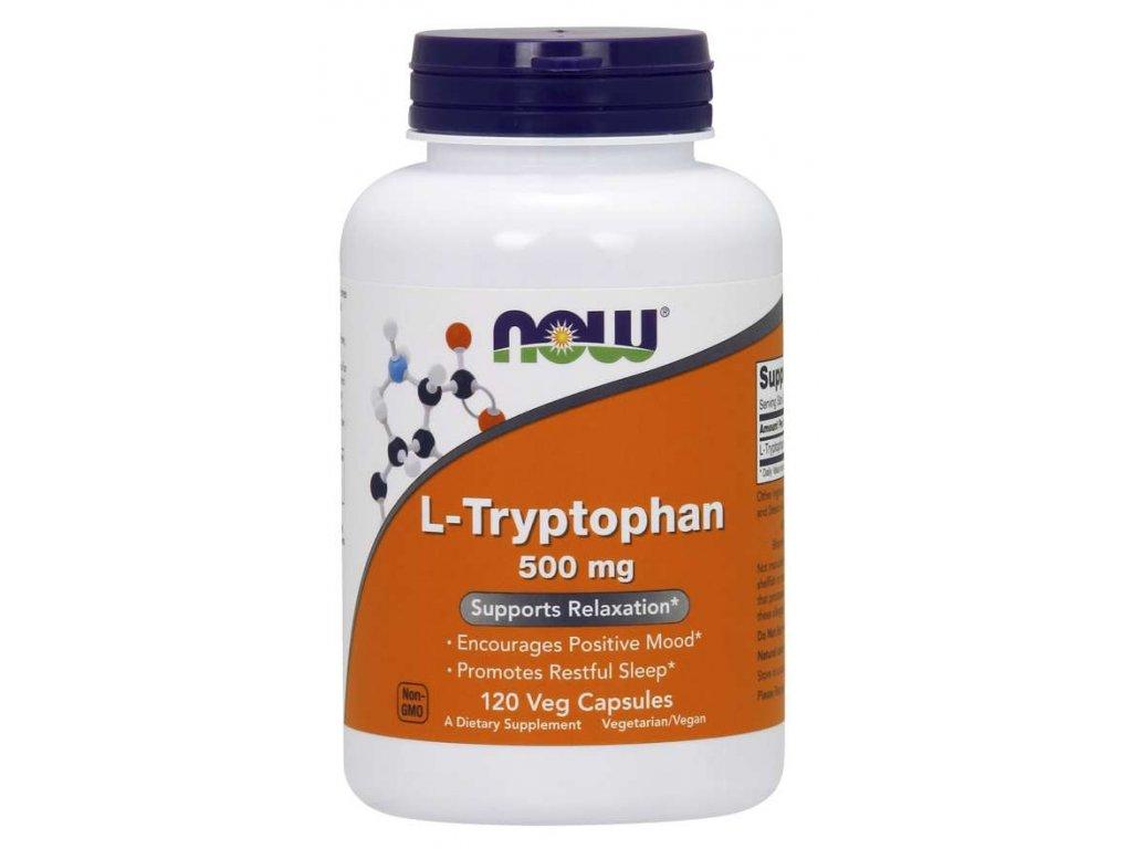 NOW L-Tryptofan 500 mg, 120 rostlinných kapslí