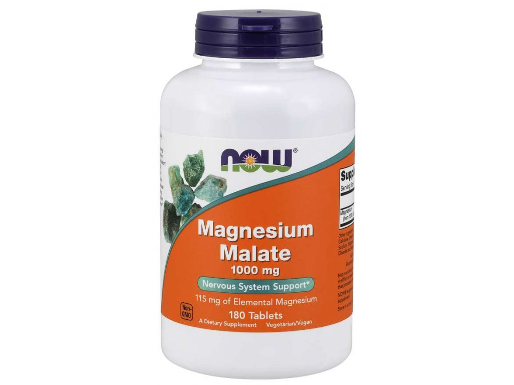 NOW Magnesium Malate, 180 tablet