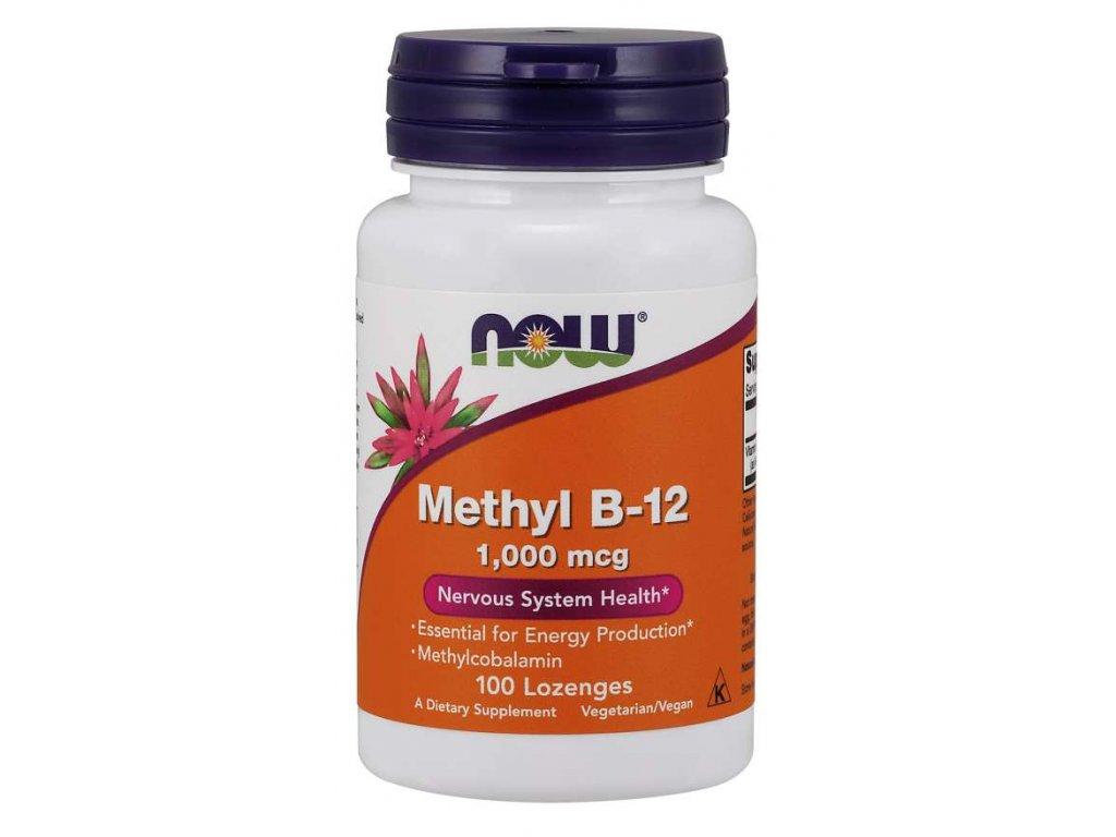 NOW Methyl B12, 1000 ug, 100 pastilek