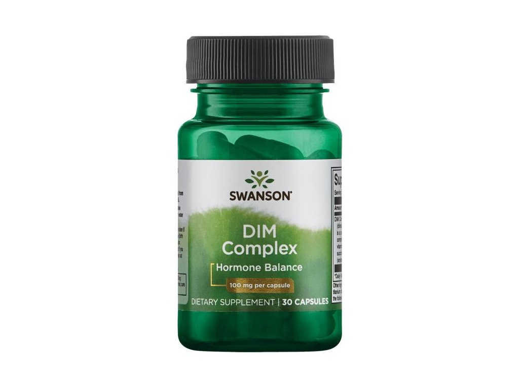 Swanson DIM komplex (diindolylmetan), 100 mg 30 kapslí