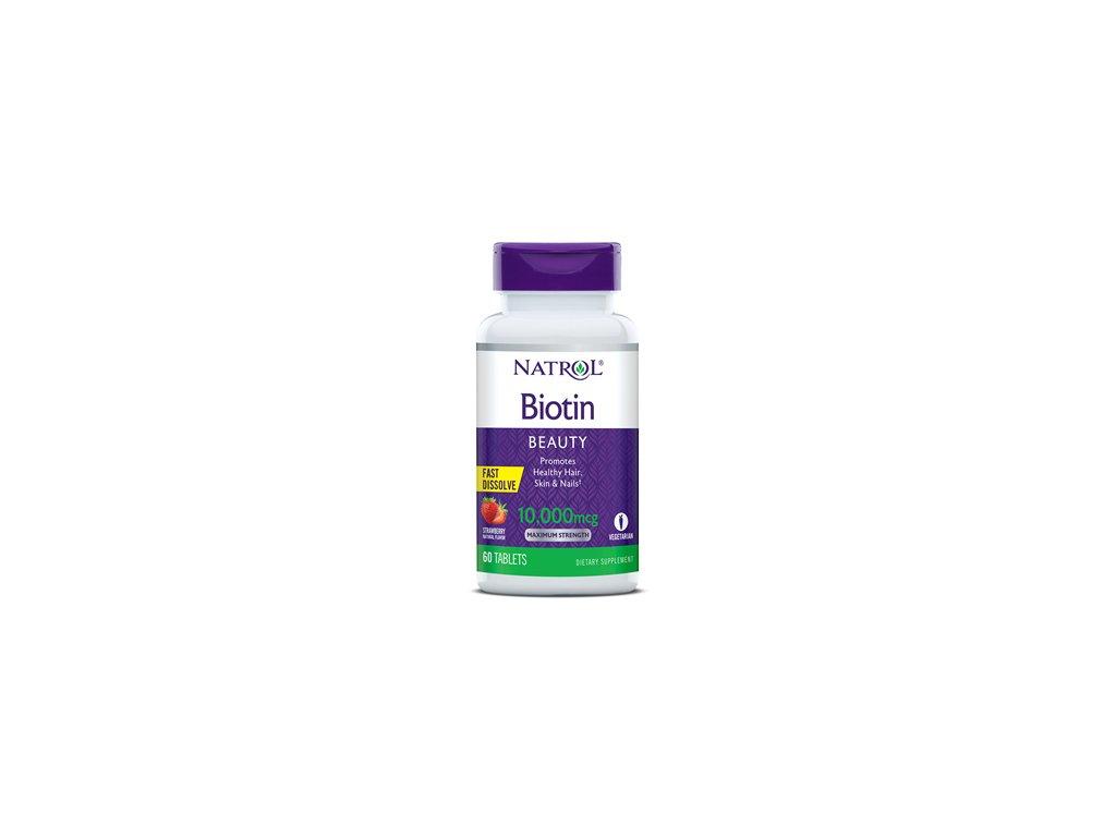 natrol biotin 60ct 10000mcgmaximum tablet fastdissolve strawberry 047469068851 348x348