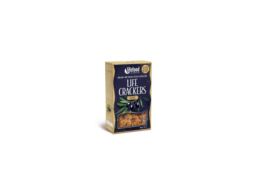Life Crackers OLIVE olivove placky krekry bio raw lifefood 400 400