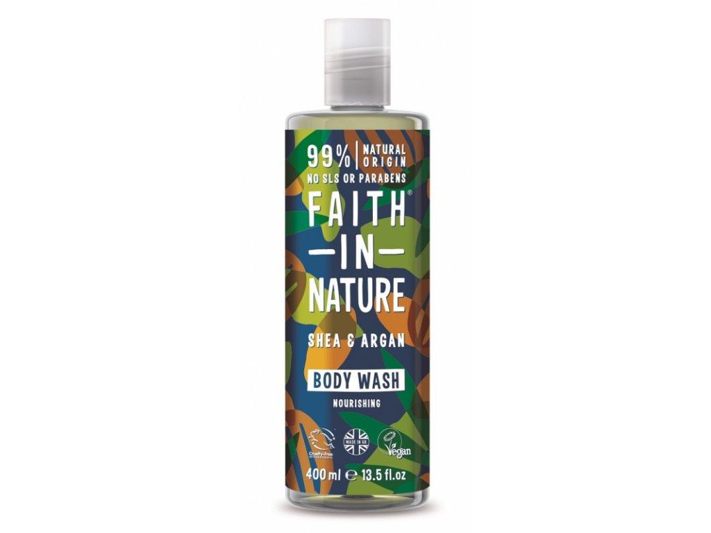 faith in nature sprchovy gel a pena do koupele argan a bambucke maslo 1875