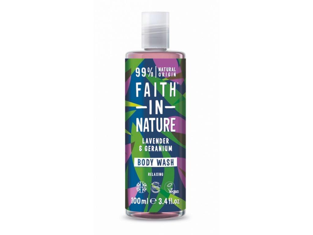faith in nature prirodni sprchovy gel levandule 100ml
