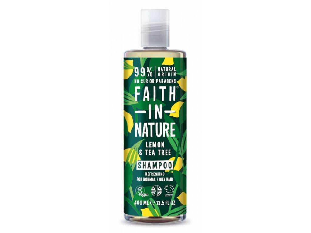 faith in nature prirodni sampon bio proti lupum citron 400ml