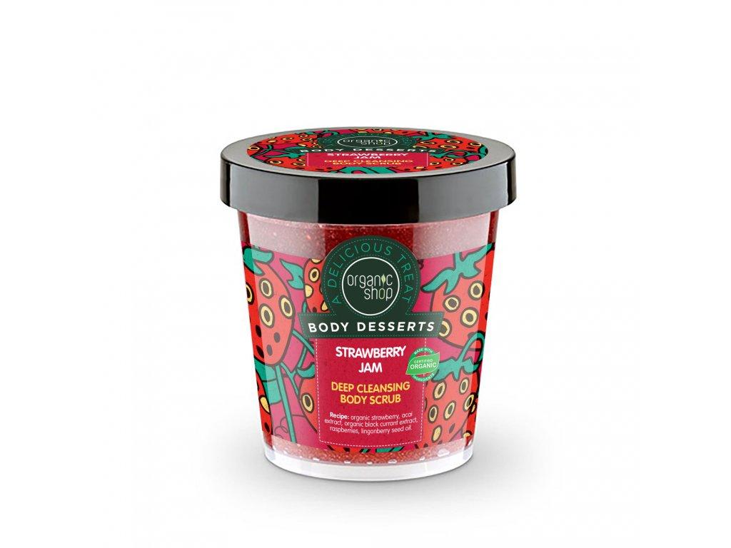 Organic shop Tělový cukrový peeling Jahoda