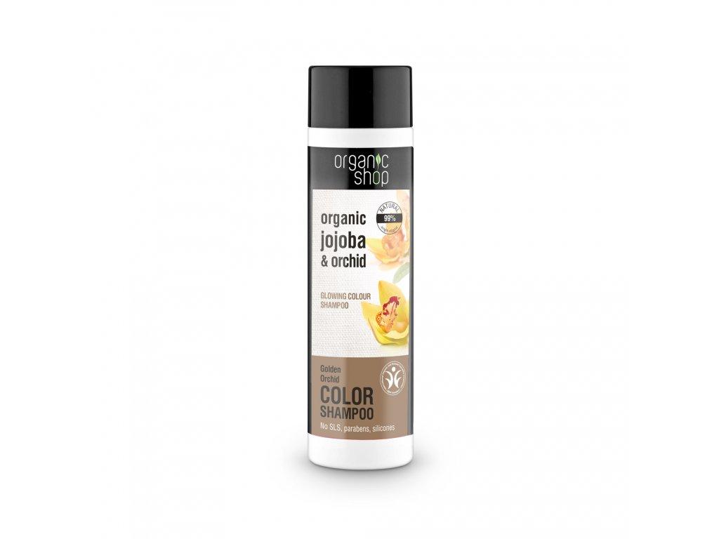 Organic shop Vlasový šampon pro zářivou barvu Organická orchidej a jojoba