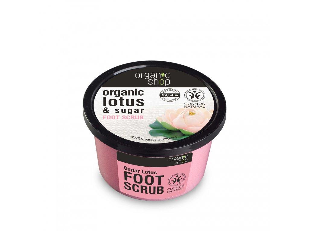 Organic shop Peeling na nohy Cukrový lotos