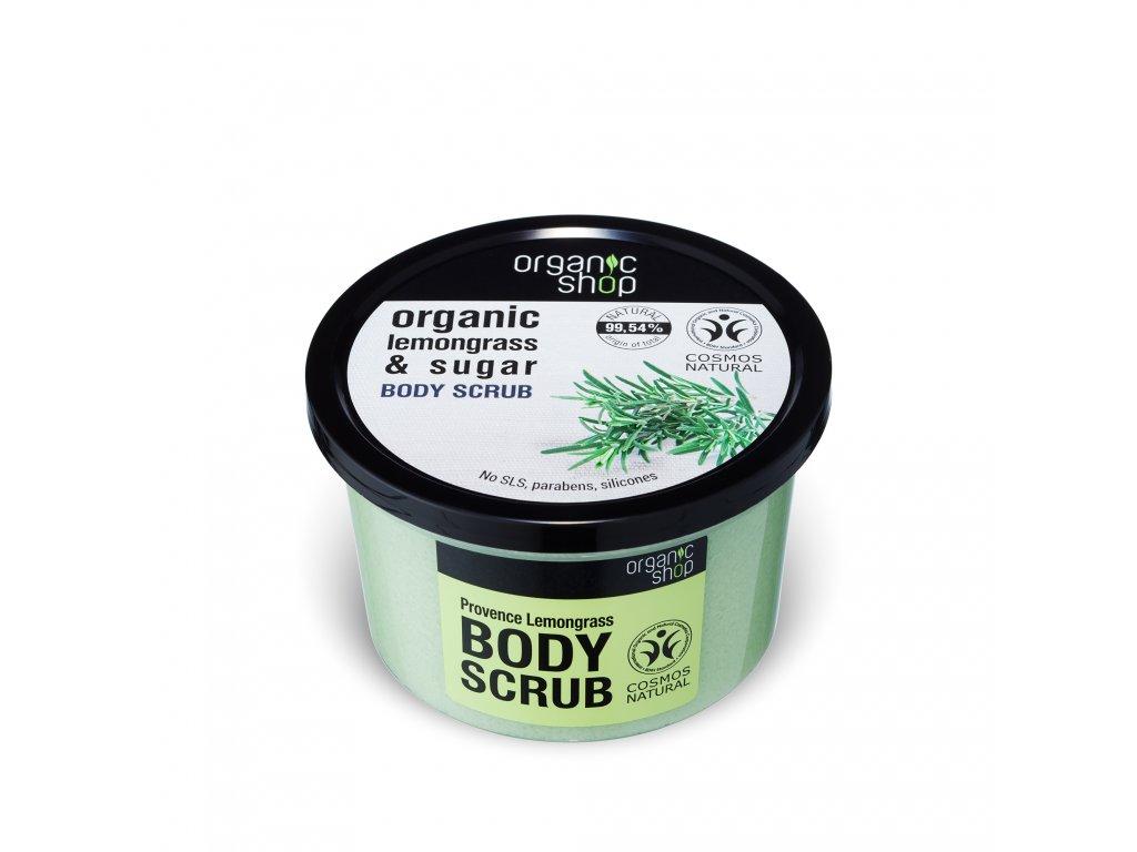 Organic shop Tělový peeling Citronová tráva z Provance