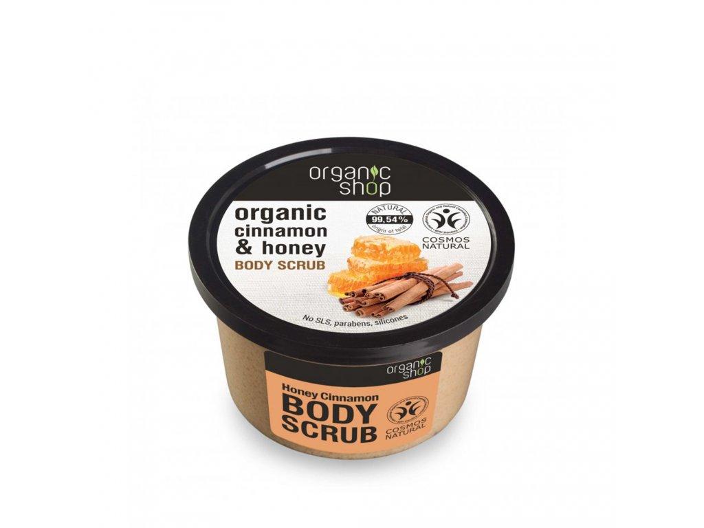 Organic shop Tělový peeling Med a skořice
