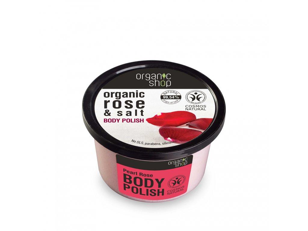 Organic shop Tělový peeling Perly a růže