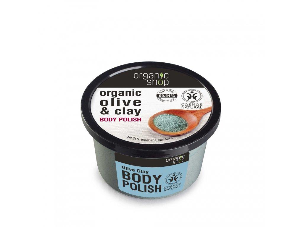 Organic shop Tělový peeling Olivy a jíl