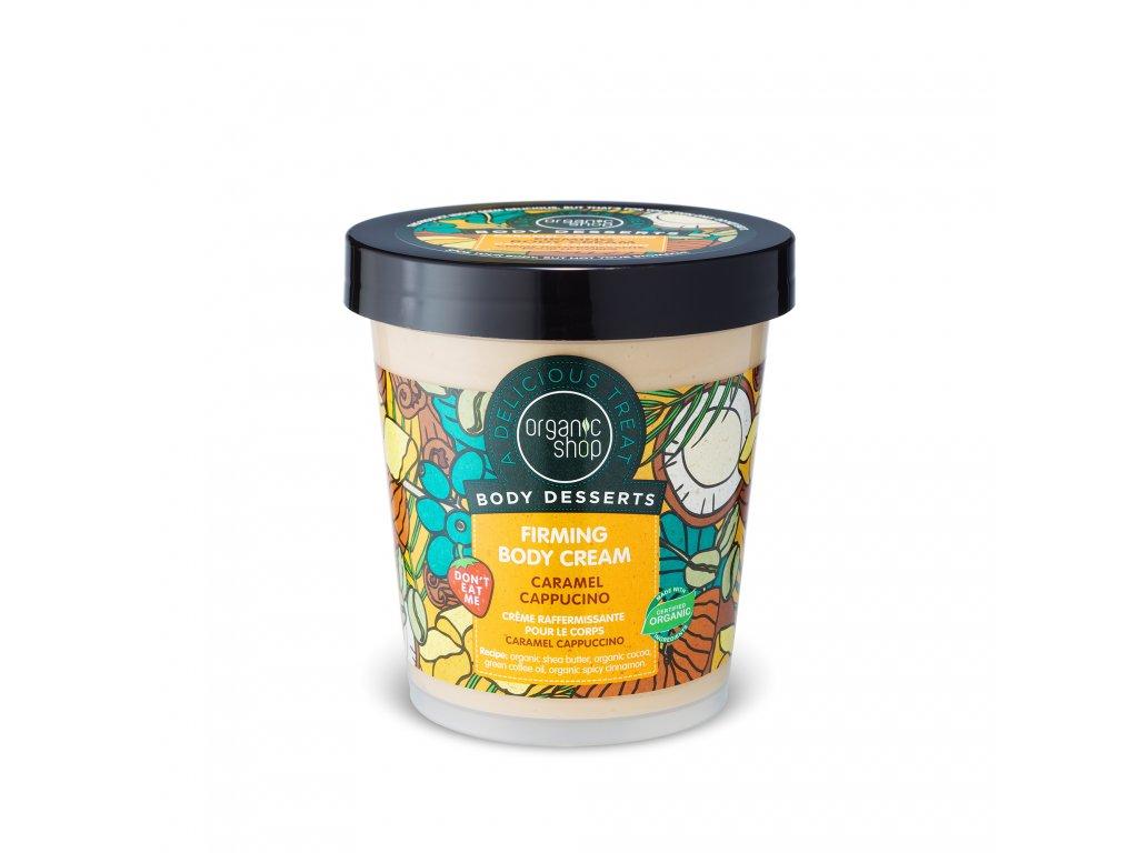 Organic shop Tělový zpevňující krém Karamelové cappuccino