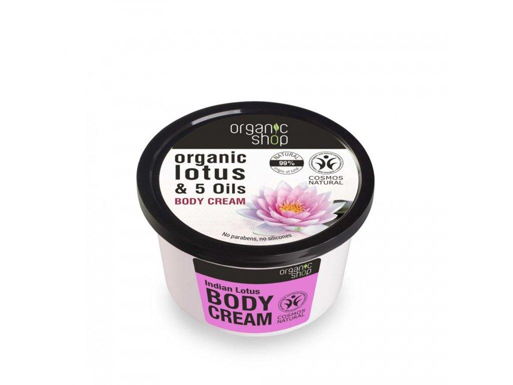 Organic shop Tělový krém Indiánský lotos