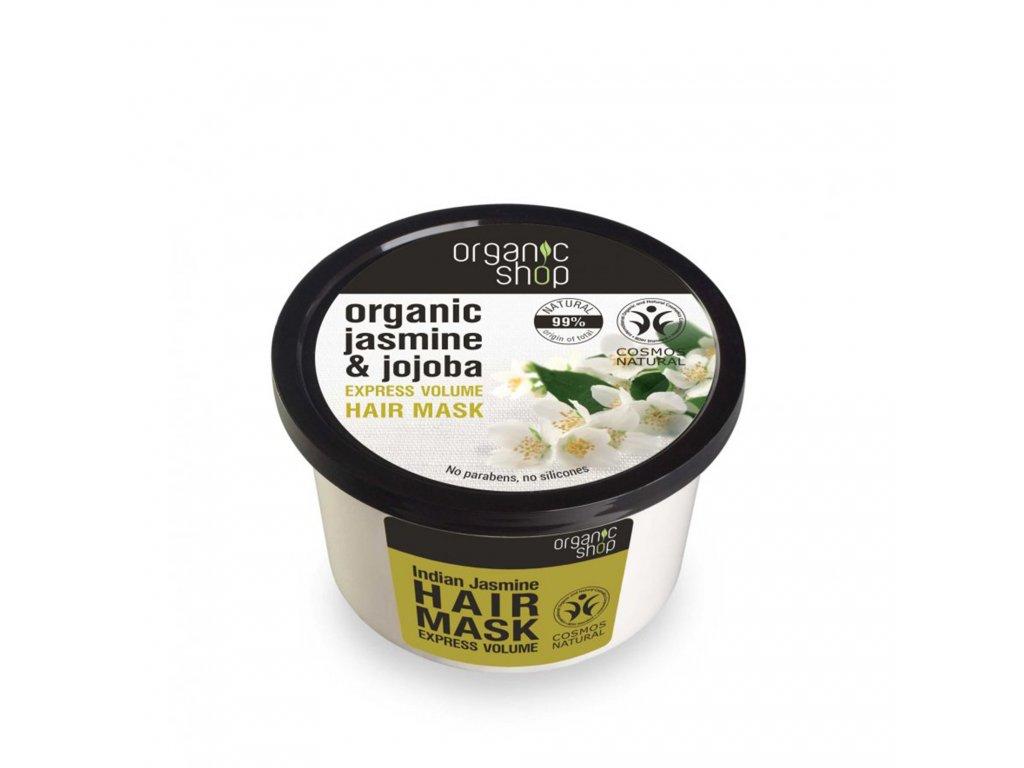 Organic shop Vlasová maska Jasmín a jojobový olej
