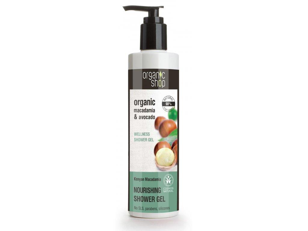 Organic shop Výživný sprchový gel Macadamia a avokádo, 280 ml