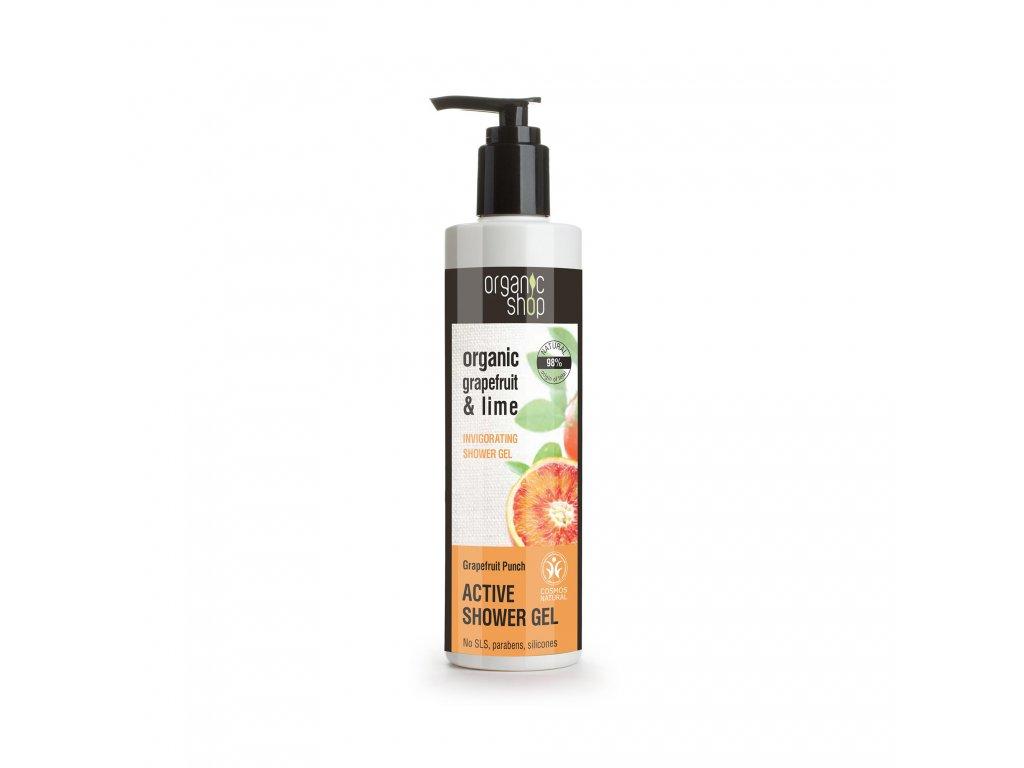 Organic shop Active sprchový gel Grepový punč a limetka