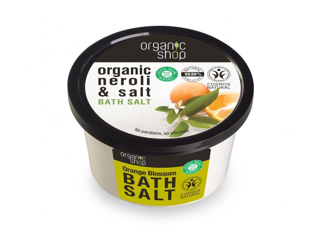 Organic shop Sůl do koupele Pomerančové květy, 250 g