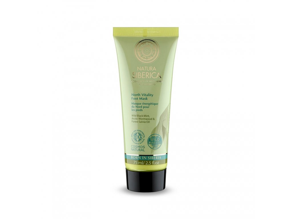 Natural & Organic Tonizující krémová maska na nohy