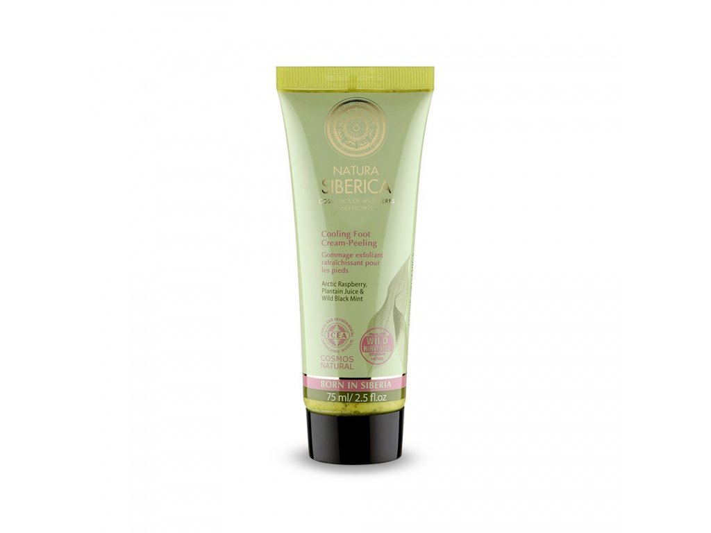 Natural & Organic Chladivý peelingový krém na nohy