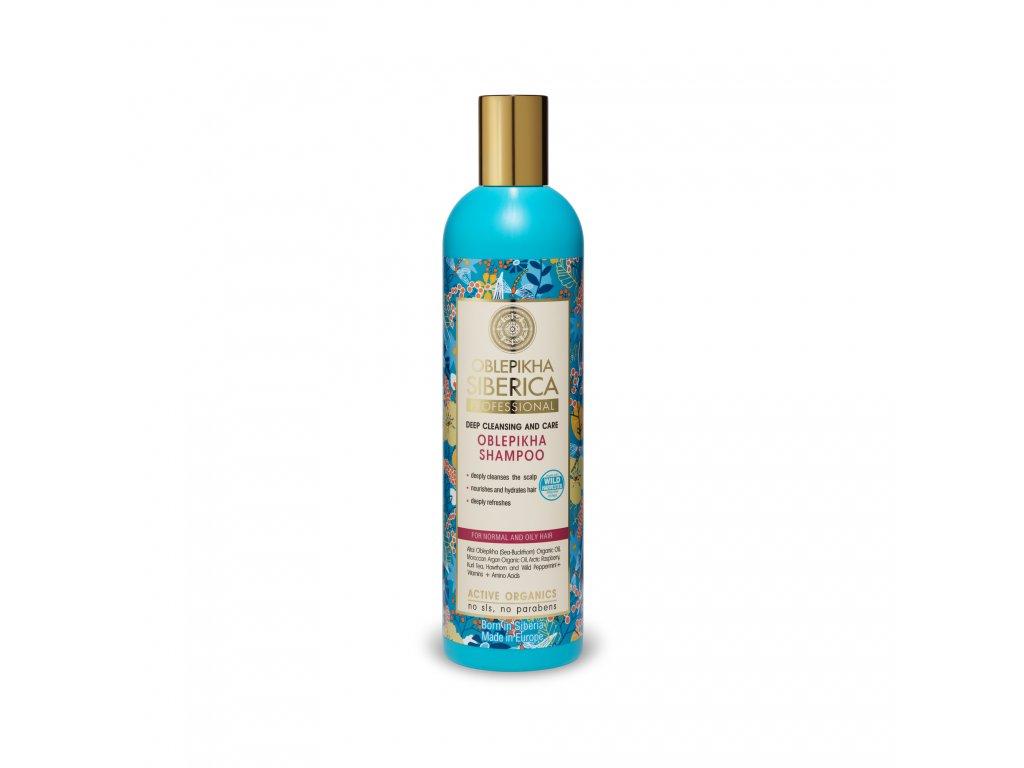 Oblepikha Siberica Rakytníkový šampon pro normální a mastné vlasy, 400ml