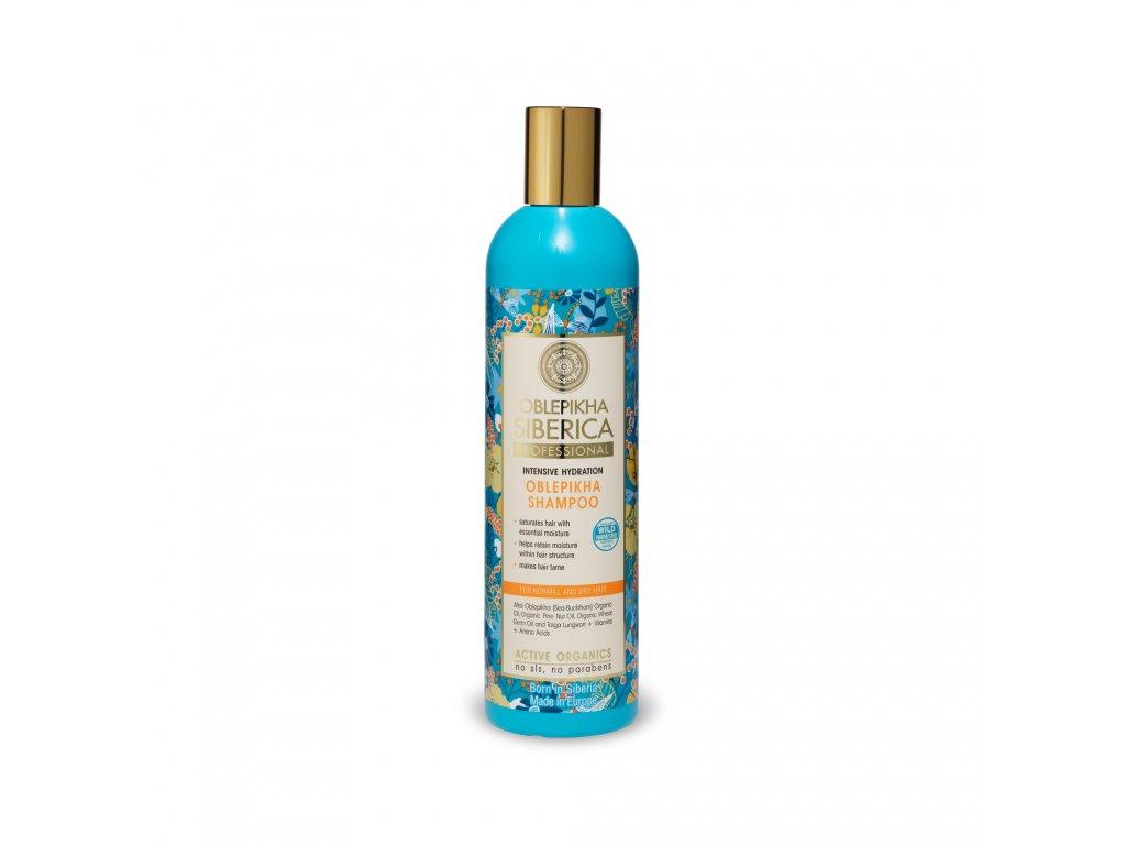 Oblepikha Siberica Rakytníkový hydratační šampon pro suché vlasy, 400ml