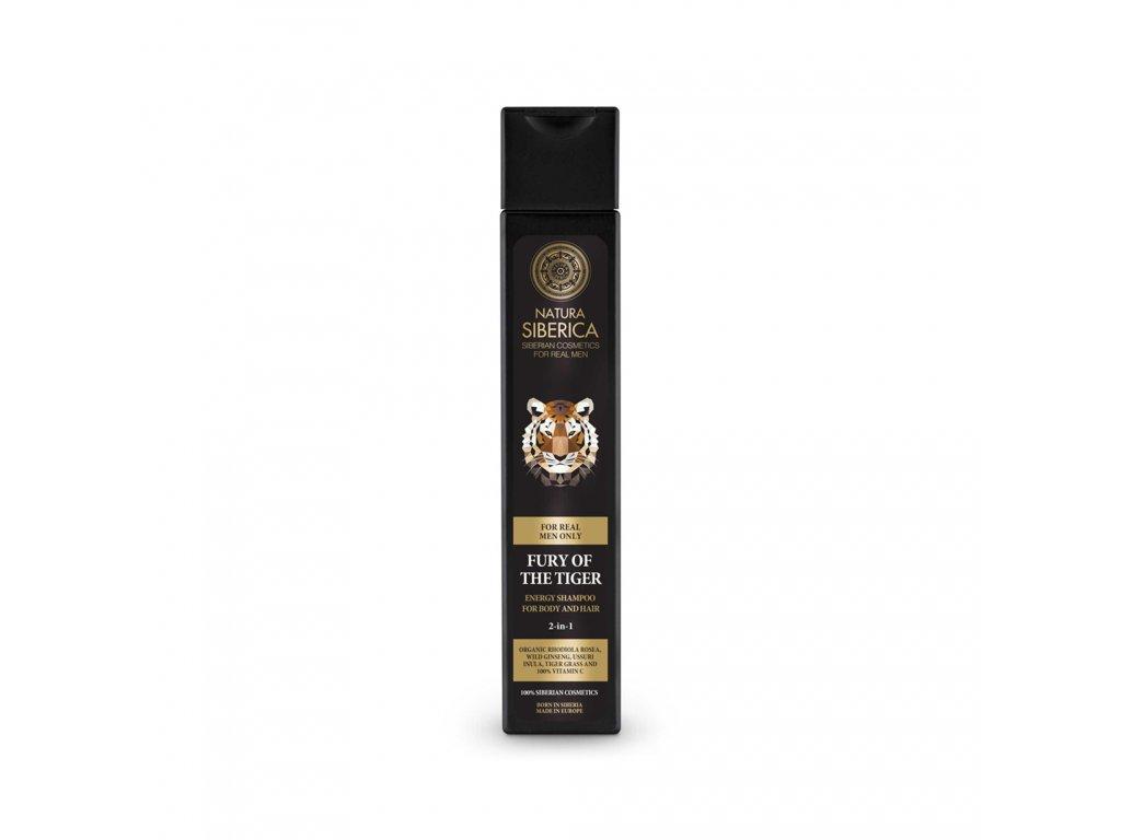 For MEN Energizující šampon pro tělo i vlasy 2 v 1 Zuřivost tygra