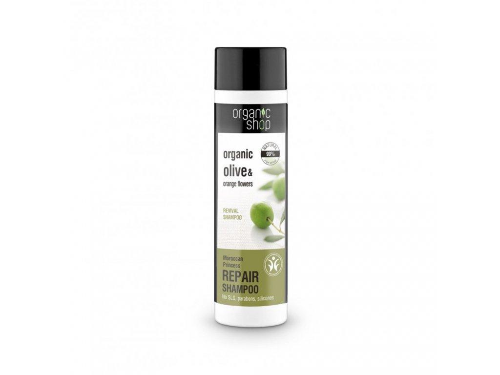 Organic shop Obnovující vlasový šampon Organické olivy a pomerančové květy