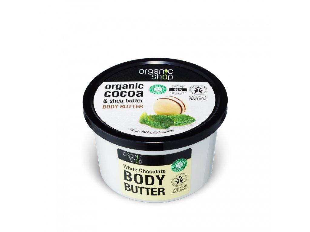 Organic shop Tělové máslo Bílá čokoláda