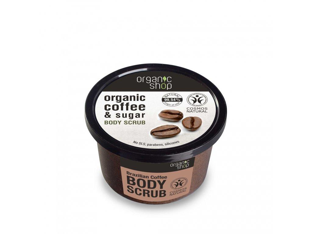 Organic shop Tělový peeling Brazilská káva