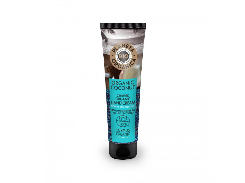 Planeta Organica Kokosový krém na ruce, 75ml