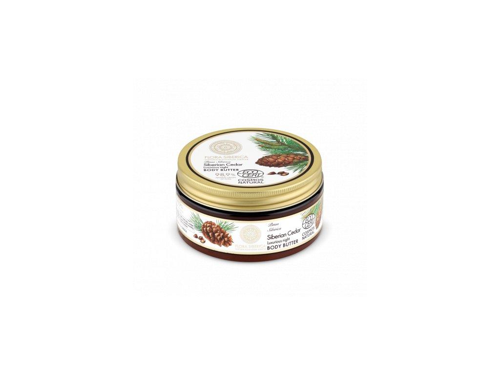Flora Siberica, noční tělové máslo Cedr, 300 ml