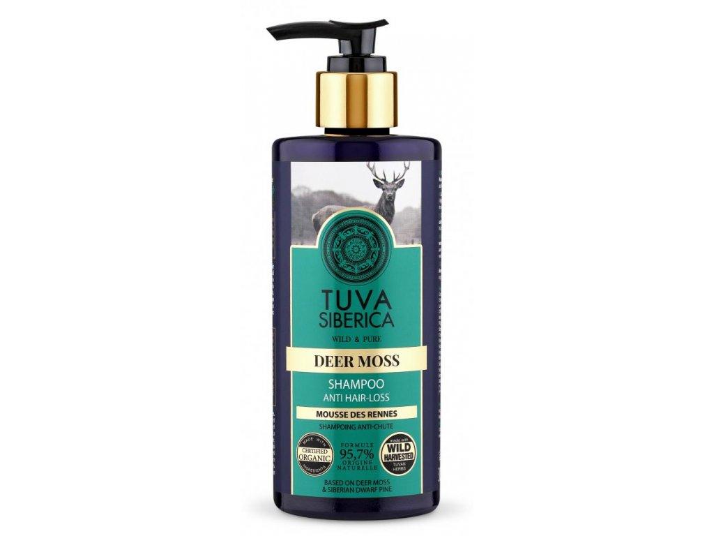 TUVA Siberica, Deer Moss, šampon proti vypadávání vlasů, 300 ml