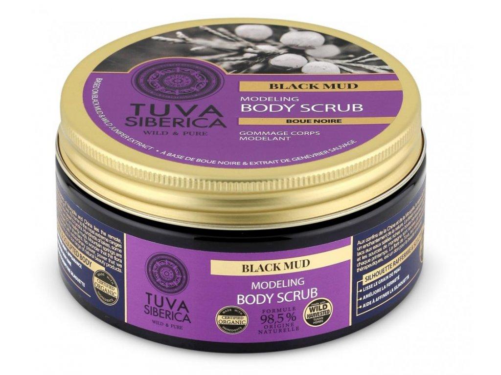 TUVA Siberica, Modelující tělový peeling, Černé bahno, 300 ml