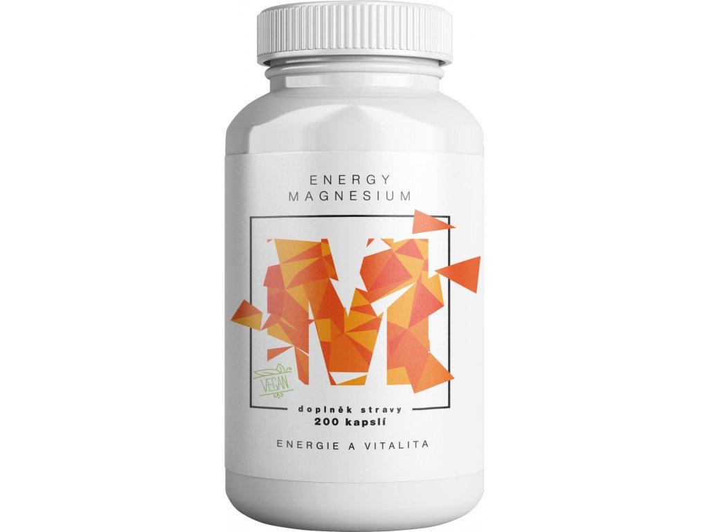 BrainMax Energy Magnesium, 1000 mg, 200 kapslí (Magnesium Malate - Hořcík malát, 164 mg)