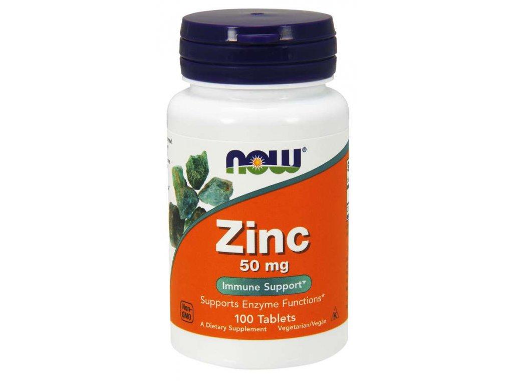 NOW Zinc (zinek glukonát), 50 mg, 100 tablet