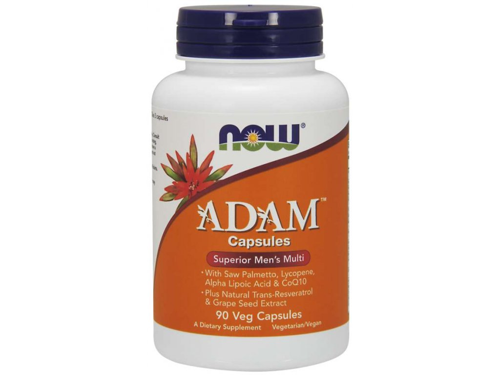 NOW Multi Vitamins Adam, Men's Superior, 90 rostlinných kapslí