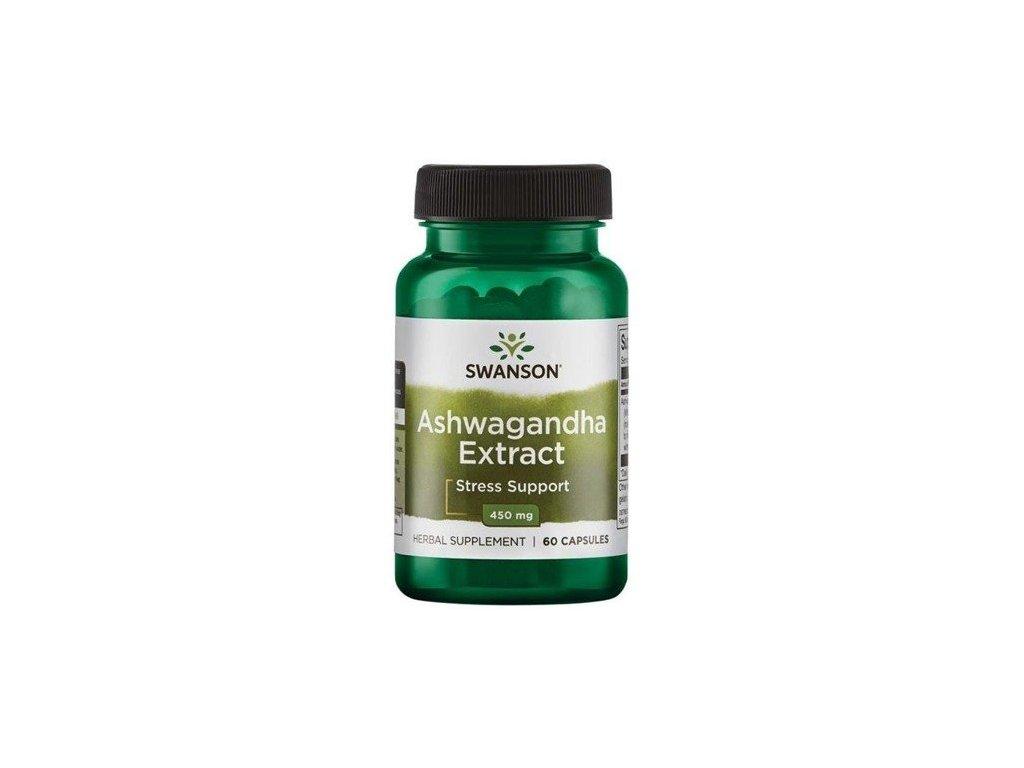 Swanson Ashwagandha Extract 450 mg, 60 kapslí