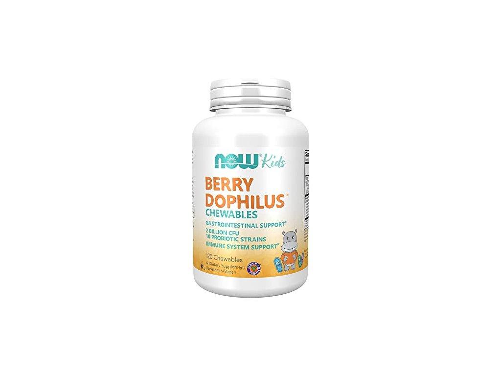 NOW BerryDophilus Kids (probiotika pro děti), 120 žvýkacích pastilek